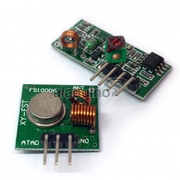 Módulos de Radiofrecuencia 433 MHz Transmisor y Receptor